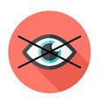 No show flat circle icon vector image