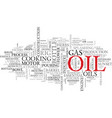 oils word cloud concept vector image vector image