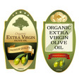 olive oil labels set elegant premium banners vector image