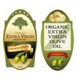 olive oil labels set elegant premium banners vector image vector image