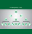 organization chart infographics design vector image vector image