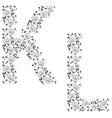 ornamental letter kl vector image vector image