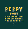 peppy bold font alphabet vector image vector image
