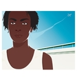 Pretty young african american woman vector image