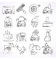 Professional car wash objects and icons vector image