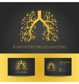 Pulmonary clinic business card vector image vector image