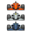 racing car with protection front view flat vector image vector image