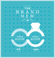 Ring themed wedding card vector image vector image
