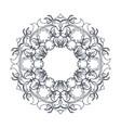 round decorative frame flourish calligraphy vector image vector image