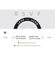 RSVP Wedding Card black and grey theme vector image vector image