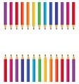 school pencils cartoon vector image