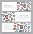 set of three digital organs and anatomy horizontal vector image vector image