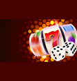 slot machine and dices wins jackpot 777 big