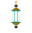 soft blue windows lantern design vector image