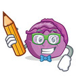 student red cabbage character cartoon vector image vector image