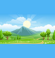 summer landscape with mountain vector image