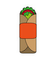 tacos food flat vector image vector image