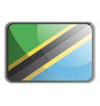 tanzania flag on white background vector image vector image
