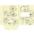 Template for folder vector image vector image