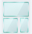 transparent glass banner set reflective vector image