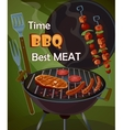 Vintage BBQ poster vector image