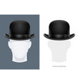 vintage classic bowler hat vector image