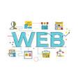 web word vector image vector image