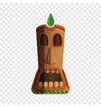 wood totem idol icon cartoon style vector image vector image