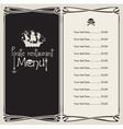 Pirate menu