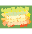 colored papers on green background vector image