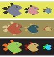 Background with colored piranhas vector image
