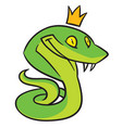 snake with a smile vector image
