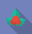 Icon of Christmas Holly Berry Flat style vector image
