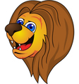 lion head cartoon vector image