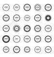round frame made of simple geometric shapes vector image