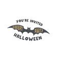 happy halloween badge vintage hand drawn logo