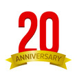 20 years anniversary icon vector image vector image