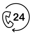 24 hours service support line icon 48x48 vector image
