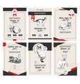 6 cat show certificates vector image