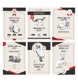 6 cat show certificates vector image vector image