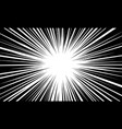 abstract radial black line speed zoom for comic vector image