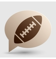 American simple football ball Brown gradient icon vector image vector image