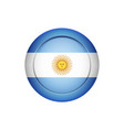 argentinian flag on the round button vector image vector image