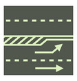 autobahn icon cartoon style vector image vector image