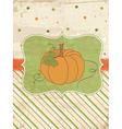 autumn pumpkin card vector image vector image