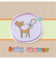 baby shower card with cat vector image vector image