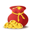 bag of gold vector image