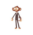 bewildered monkey businessman cartoon character vector image vector image