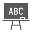 blackboard glyph icon school and education vector image