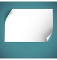 Blank curved paper template vector image vector image